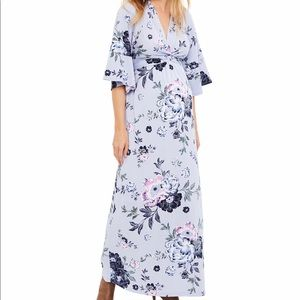 Jessica Simpson Maternity Small Blue Floral Dress
